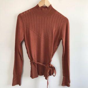 Moth Anthropologie Mock Neck Wrap Sweater S